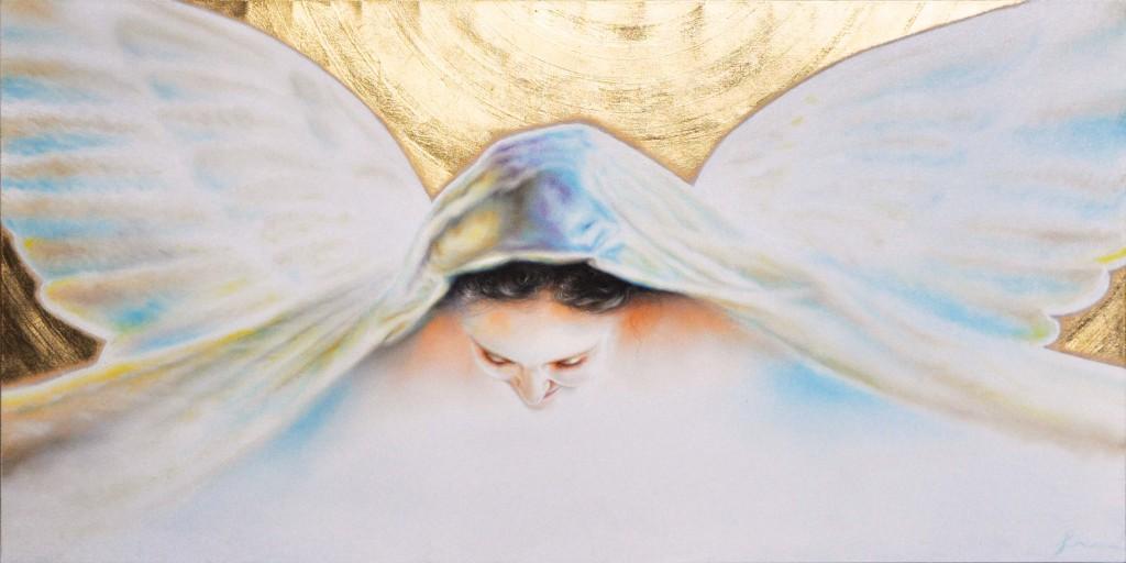 Angelo del confine di sopra - Angel of the border above   100x50 cm